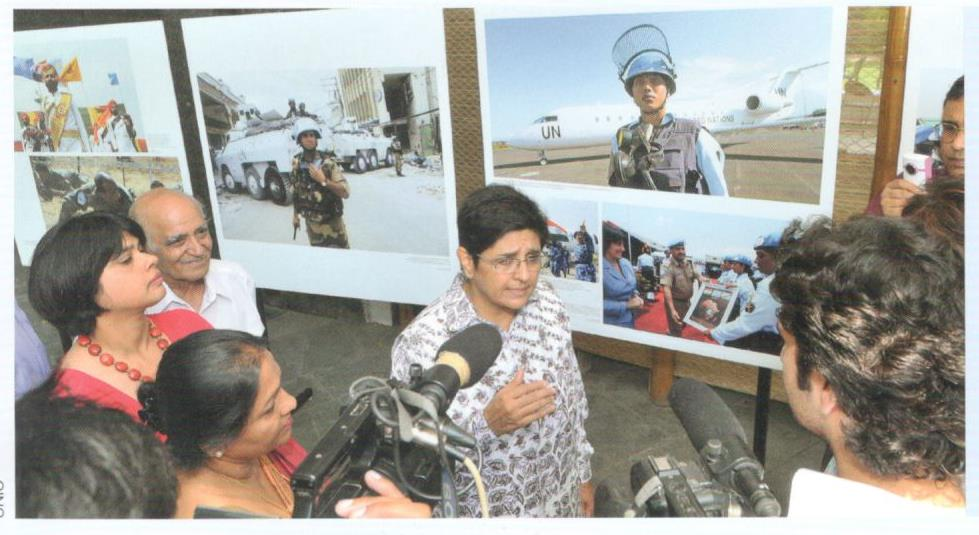 Mrs. Aleyamma Jain with Mrs. Kiran Bedi