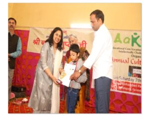 Aakriti Educational Cum vocational Training Centre , Faridabad, distributed the prizes to the National Winners.